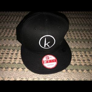 New snap back hat with a K